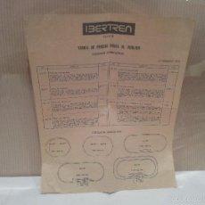 Trenes Escala: IBERTREN N TARIFA DE PRECIOS VENTA AL PUBICO 17 DE FEBRERO DE 1973 VER FOTOS. Lote 58258972