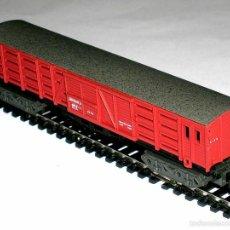 Trenes Escala: VAGÓN TRANSPORTE GANADO RENFE REF. 448, IBERTREN ESC. N, ORIGINAL AÑOS 80. IMPECABLE. Lote 154324122