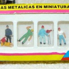 Trenes Escala: FIGURAS METALICAS EN MINIATURA A ESCALA PARA MAQUETAS DE LA MARCA DATANK. Lote 66983506