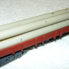Trenes Escala: VAGON CARGA TUBOS IBERTREN 4 EJES ESCALA N. Lote 66999690