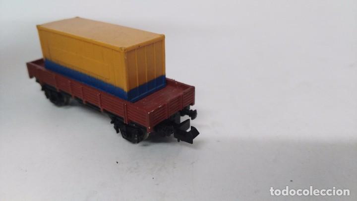 Trenes Escala: antiguo vagon de tren ibertren escala n carga contenedor - Foto 2 - 76858615