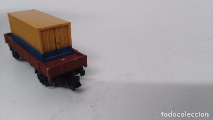 Trenes Escala: antiguo vagon de tren ibertren escala n carga contenedor - Foto 4 - 76858615