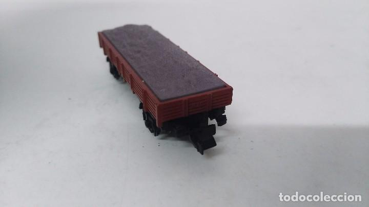 Trenes Escala: antiguo vagon de tren ibertren escala n carga grava - Foto 3 - 76858679