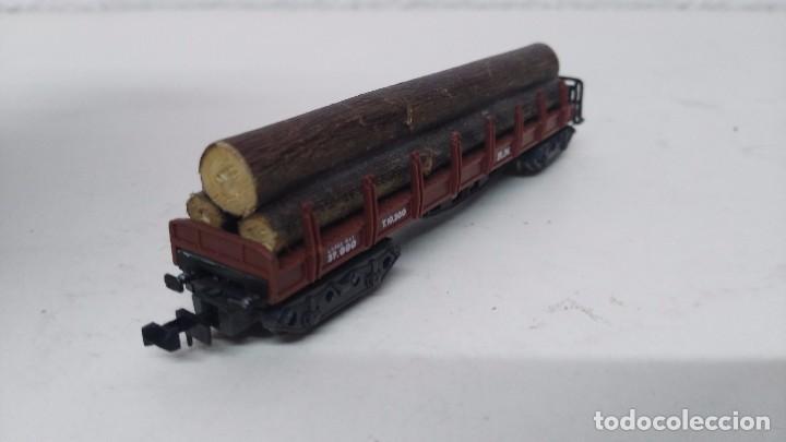 Trenes Escala: antiguo vagon de tren ibertren escala n carga troncos - Foto 5 - 103584678