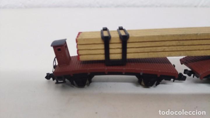 Trenes Escala: antiguo vagon de tren ibertren escala n carga tablas - Foto 2 - 76859231