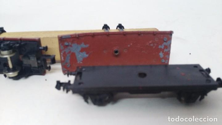 Trenes Escala: antiguo vagon de tren ibertren escala n carga tablas - Foto 4 - 76859231