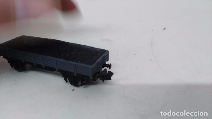 Trenes Escala: antiguo vagon de tren ibertren escala n carga grava - Foto 4 - 76859523