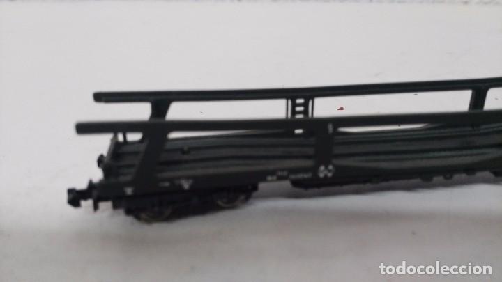 Trenes Escala: antiguo vagon de tren ibertren escala n carga porta coches - Foto 2 - 76859967