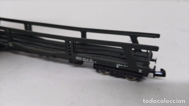 Trenes Escala: antiguo vagon de tren ibertren escala n carga porta coches - Foto 3 - 76859967