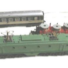 Trenes Escala: LOCOMOTORA ALSHTOM RENFE 7671 DE IBERTREN ESCALA 3N, VAGON PASAJEROS Y MERCANCIAS. Lote 87006340