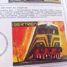 Trenes Escala: TREN IBERTREN LOCOMOTORA ALCO 202 TRES VAGONES, TRANSFORMADOR ALGUNAS VIAS Y INTRUCCIONES ESCALA N. Lote 94505966