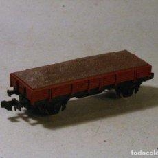 Trenes Escala: IBERTREN ESCALA N. VAGON BORDES BAJOS CON CARGA DE GRAVA. Lote 89708920