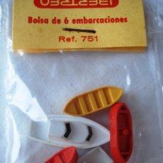 Trenes Escala: IBERTREN ESCALA N: BOLSA DE 6 EMBARCACIONES ¡¡NUEVO!! EN SU CAJA ORIGINAL. AÑOS 80. Lote 90135928