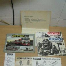 Trenes Escala: CARPETA IBERTREN AÑO 1979 CONTIENE CATALOGO LOCOMNOTORAS VAGONES CATALOGO CIRCUITOS ETC . Lote 93126810