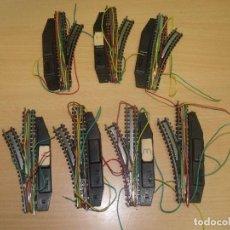 Trenes Escala: 7 DESVIOS ELECTRICOS IBERTREN EN PERFECTO ESTADO ( 4 IZQUIERDA / 3 DERECHA ). Lote 93127045