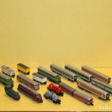 Trenes Escala: IBERTREN N - LOTE DE LOCOMOTORAS Y VAGONES - AÑOS 70. Lote 94471762