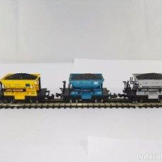 Trenes Escala: LOTE DE 3 CARROS VAGONES DE MINERIA V-12 IBERTREN ESCALA N. Lote 95819583