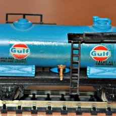 Trenes Escala: VAGÓN CISTERNA GULF DE IBERTREN, REF. 355, ESCALA N. Lote 99897139