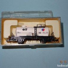 Trenes Escala: ANTIGUO VAGÓN CISTERNA ELF REF. 359 EN ESCALA *N* DE IBERTREN. Lote 105967479