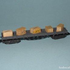 Trenes Escala - Antiguo Vagón Borde Bajo 4 Ejes en Escala *N* de IBERTREN - 110589839
