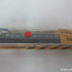 Trenes Escala: VAGÓN IBERTREN - VAGÓN PASAJEROS VERDE - 4 EJES - REF 231 - ESCALA N - CON CAJA ORIGINAL. Lote 111029099
