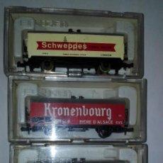 Trenes Escala: LOTE DE 4 VAGONES FRIGORIFICOS IBERTREN REF.382-384-385-386. Lote 112979439