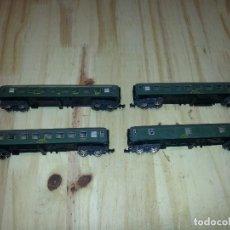 Trenes Escala: VAGONES IBERTREN 8000 N VERDES RENFE. Lote 113120811