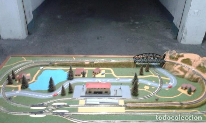 Trenes Escala: PRECIOSO DIORAMA O MAQUETA IBERTREN MUY COMPLETA AÑOS 70. ESCALA N - Foto 5 - 114217251