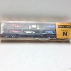 Trenes Escala: VAGON PORTACOCHES 4 EJES ESCALA N - IBERTREN REF- 452. Lote 114364999