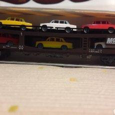 Trenes Escala: VAGÓN RENFE PORTA COCHES 4 EJES MOTORAIL IBERTREN N 6458. Lote 114494858