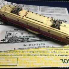 Trenes Escala: IBERTREN 3N. REF. 018 LOCOMOTORA ELECTRICA ALSTOM DB ROJO-MARFIL. Lote 114918723