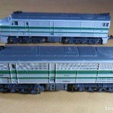 Trenes Escala: IBERTREN 3N - LOCOMOTORA DOBLE ALCO 1808 - FUNCIONA. Lote 118625735