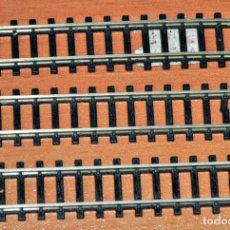 Trenes Escala: LOTE DE 3 TRAMOS DE VÍA RECTA DE 76,3 MM DE IBERTREN. ESCALA N. Lote 118708811