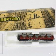 Trenes Escala: VAGÓN IBERTREN - VAGÓN TELEROS 4 EJES CON BOBINAS - REF. 3624/M - TREN ESCALA N - ESPAÑA. Lote 121334131