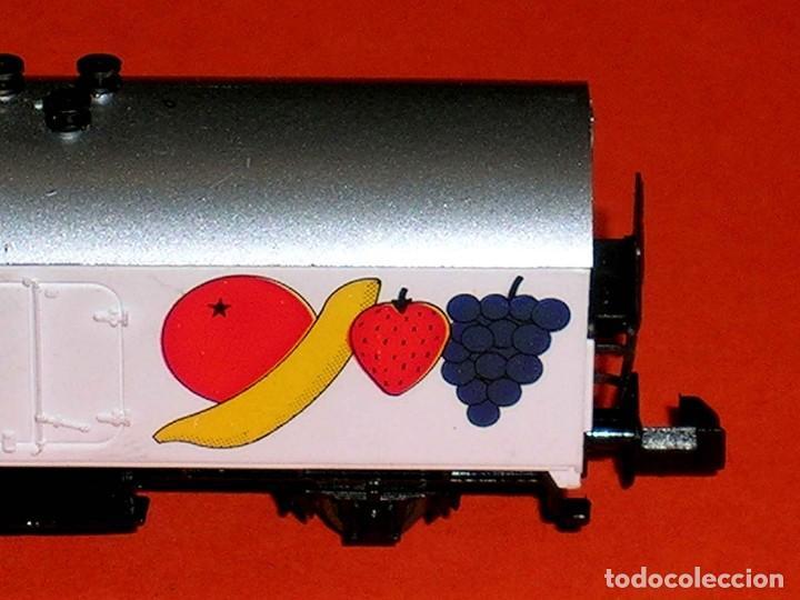 Trenes Escala: Vagón frigorífico Frutas Migros Interfrigo ref. 387, Ibertren esc. N, original años 80. - Foto 2 - 121665595