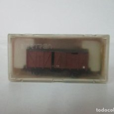 Trenes Escala: IBERTREN - VAGÓN FURGÓN CERRADO - REF 341 - 2 EJES - ESCALA N - CON CAJA - ORIGINAL. Lote 121686459