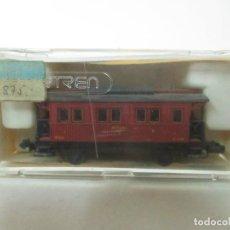 Trenes Escala: IBERTREN - VAGÓN M.Z.A, 1ª CLASE - REF 246 - 2 EJES - ESCALA N - CON CAJA - ORIGINAL. Lote 121691015