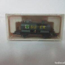 Trenes Escala: IBERTREN - VAGÓN CISTERNA BP SUPER - REF 357 - 2 EJES - ESCALA N - CON CAJA - ORIGINAL. Lote 121696059