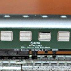 Trenes Escala: COCHE TALLER DE GRAN INTERVENCIÓN VERDE AFECTO A GRUA DE IBERTREN, REF. 233. ESCALAN. Lote 122722379