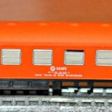 Trenes Escala: COCHE TALLER DE GRAN INTERVENCIÓN NARANJA AFECTO A GRUA DE IBERTREN, REF. 229. ESCALAN. Lote 122726235