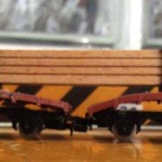 Trenes Escala: IBERTREN,PLATAFORMA CON CARGA DE MADERA, AÑOS 70/80. Lote 122867147