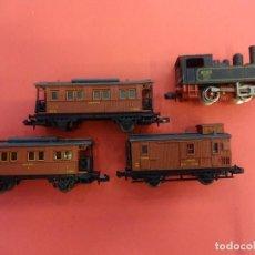 Trenes Escala: LOTE DE LOCOMOTORA + 3 VAGONES IBERTREN ESCALA N. Lote 125032267