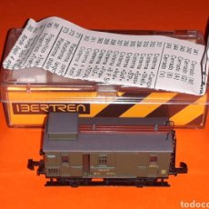 Trenes Escala: FURGÓN EQUIPAJES CORREO MZA VERDE REF. 224, IBERTREN ESC. N, ORIGINAL AÑOS 70-80. CON CAJA.. Lote 125234743