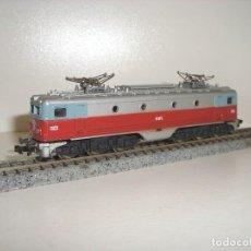 Trenes Escala: IBERTREN 3N LOCOMOTORA ALSTOM ROJO-PLATA (CON COMPRA DE 5 LOTES O MAS ENVÍO GRATIS). Lote 125943327