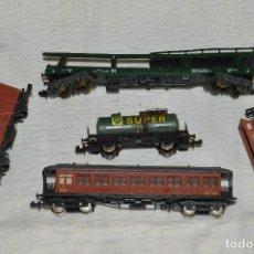 Trenes Escala: LOTE DE 5 VAGONES IBERTREN - IBERTREN ANTIGUO - MADE IN SPAIN - ORIGINALES - ENVÍO 24H - LOTE 01. Lote 127624235