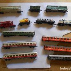 Trenes Escala: LOTE 10 VAGONES TREN ESCALA N TRIX, ARNOLD, RAPIDO, AUSTRIA..+REGALO IBERTREN (RESTAURAR) . Lote 130860840