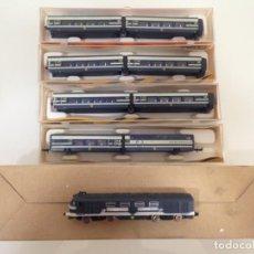 Trenes Escala: TREN,TALGO PENDULAR COMPOSICION LOCOMOTORA + 8 COCHES, IBERTREN 2N,. Lote 131086108