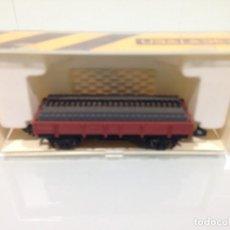 Trenes Escala - TREN, IBERTREN 311, VAGÓN BORDE BAJO 2 EJES CON TRAVIESAS, MARRON - 142177250