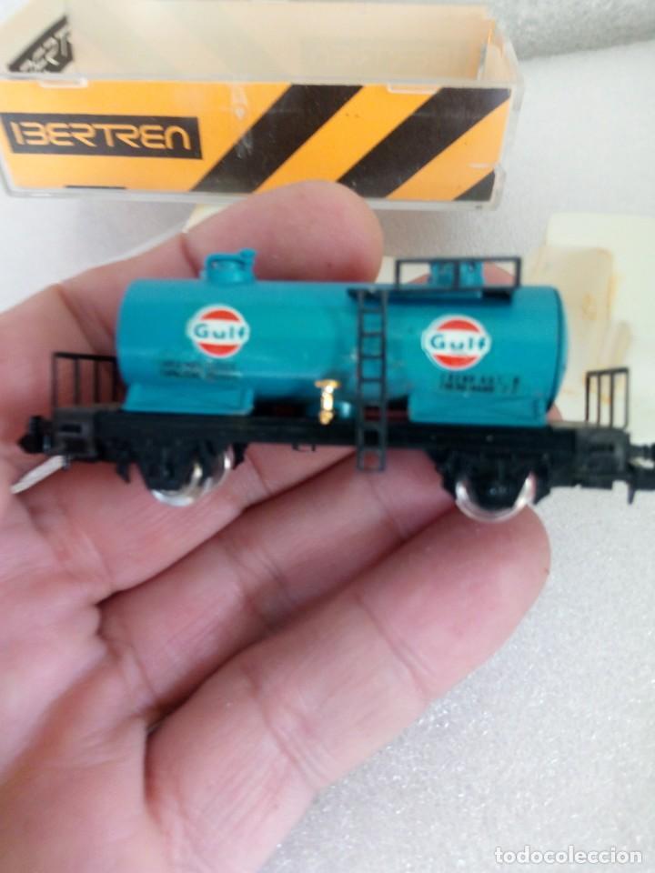 Trenes Escala: IBERTREN N 355. VAGON CISTERNA GULF. en caja y con propaganda - Foto 2 - 142304302