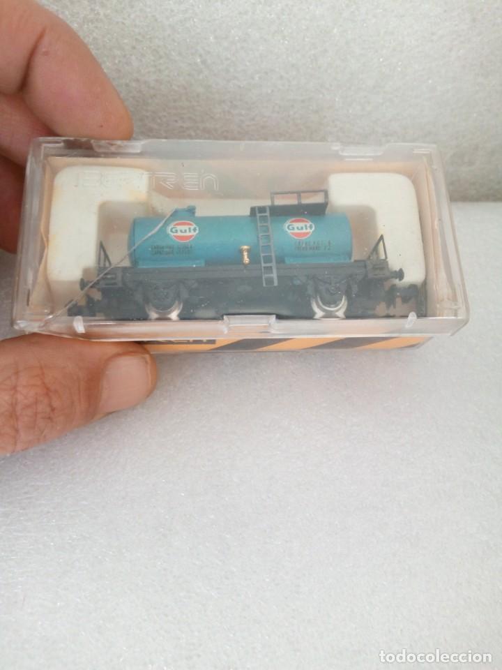 Trenes Escala: IBERTREN N 355. VAGON CISTERNA GULF. en caja y con propaganda - Foto 3 - 142304302